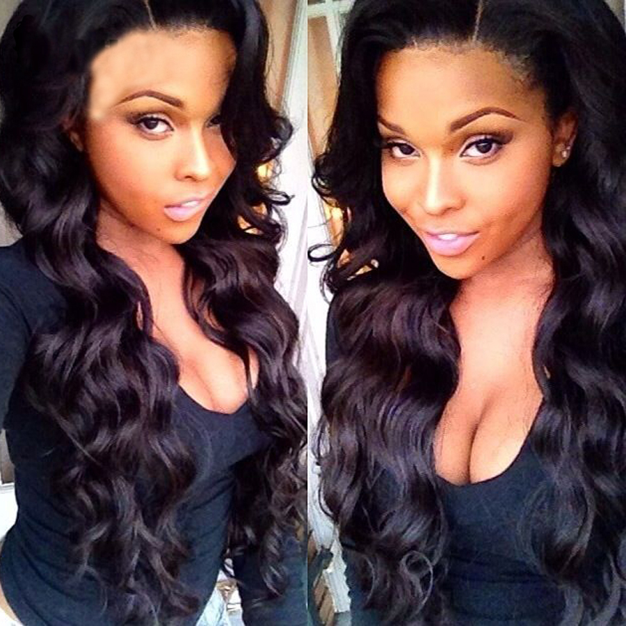 7A Peruvian Body Wave human hair Clip In Hair Extensions 7pcs