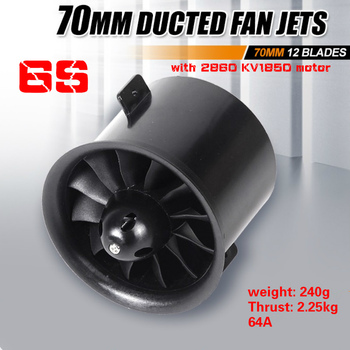цена на FMS 70mm 12 Blades Ducted Fan EDF Unit With Inrunner 2860 KV1850 Motor 6S version For RC Airplane Model Plane Aircraft Parts