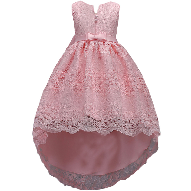 2018 new Summer Children Dresses For Girls Princess Kids Fomal Princess Dress PINK Baby Girl Party Wedding Dress free shipping 2016 new free shipping retail princess dress girls baby kids children dresses for girl clothing summer dress little girl party