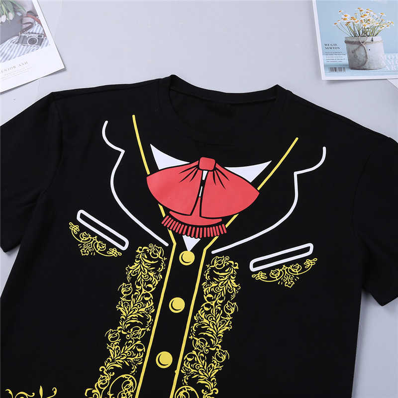 9a722cd4 ... High Quality Viva Mexico Men's Mexican Mariachi Charro Halloween Costume  T Shirt Print T-Shirt ...