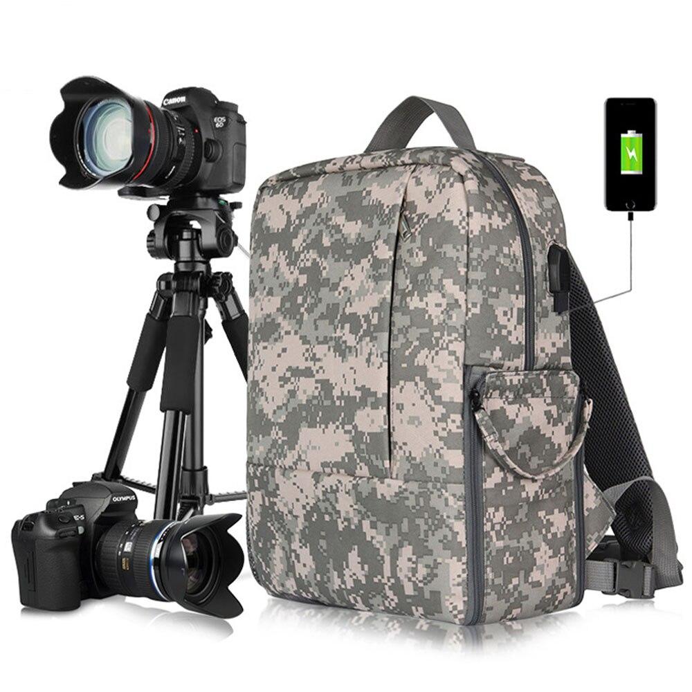 Новый Открытый Камера рюкзак Водонепроницаемый DSLR Камера сумка с 15,6 ''ноутбук карман штатив ремень Камера ящик зарядка через usb станции.