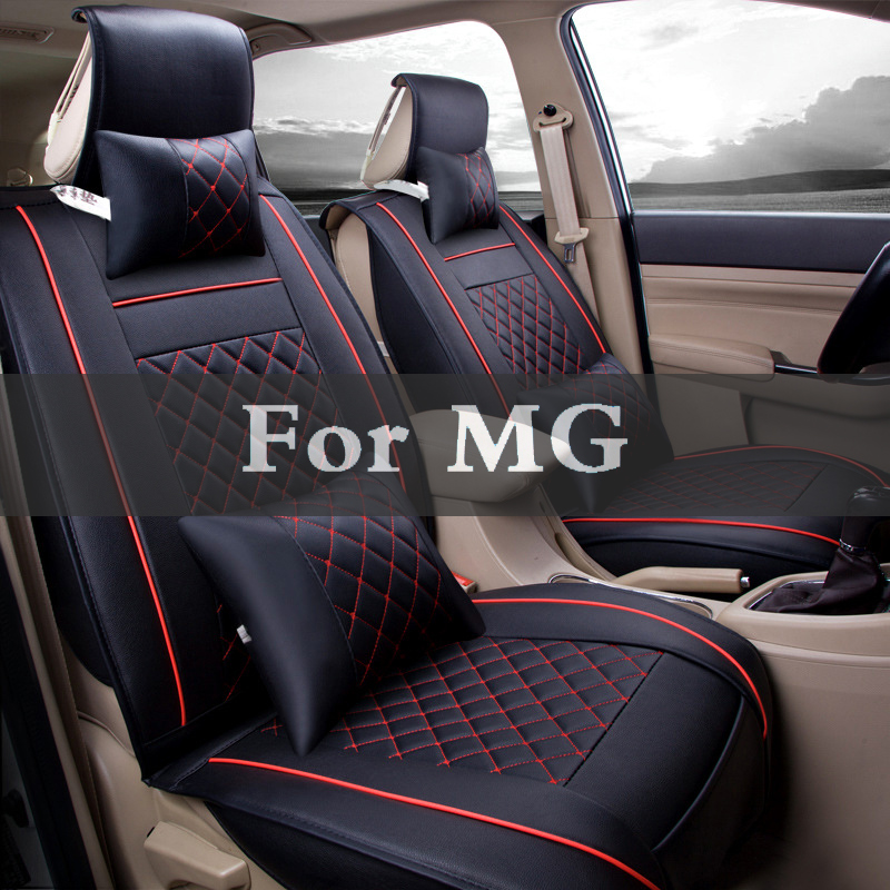(Front+Rear)High Quality Leather Universal Car Seat Cushion Set Covers For Mg 3 350 5 550 6 Gs Tf Xpower Sv Zr Zs Zt