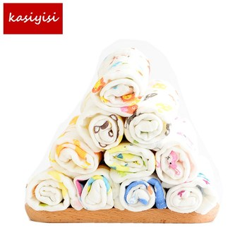10Pc/lot The Baby Is Six Layers of Gauze Washing Towel Towel Printing Handkerchief Baby Newborn Cartoon Towel Slobber hTRQ1245 six layers of gauze cotton square towel children towel fold a handkerchief plain printed saliva towel