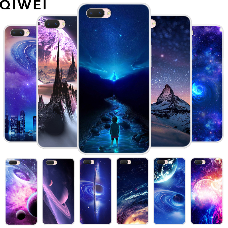 For OPPO A3s Case OPPOA3s Cover Cool Space Sky Printed Soft TPU Cover For OPPO A3S A 3S A3 S Silicone Phone Cover Capa CPH1803