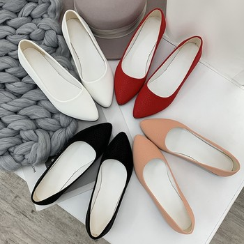 Summer Shoes Women Black Leather Pumps 2019 Med Square Heels Slip On Pointed Toe Shoes For Woman Casual Rome Zapatos De Mujer цена 2017