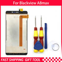 New original Blackview A8 max LCD + touch screen assembly for Blackview A8max tool + 3M adhesive
