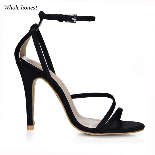 381e6ee1fd4c 2018 Promotion Direct Selling Microfiber Pu Cover Heel Open Sapato Feminino  Melissa Sandals Elegance Belt Thin High Sandal