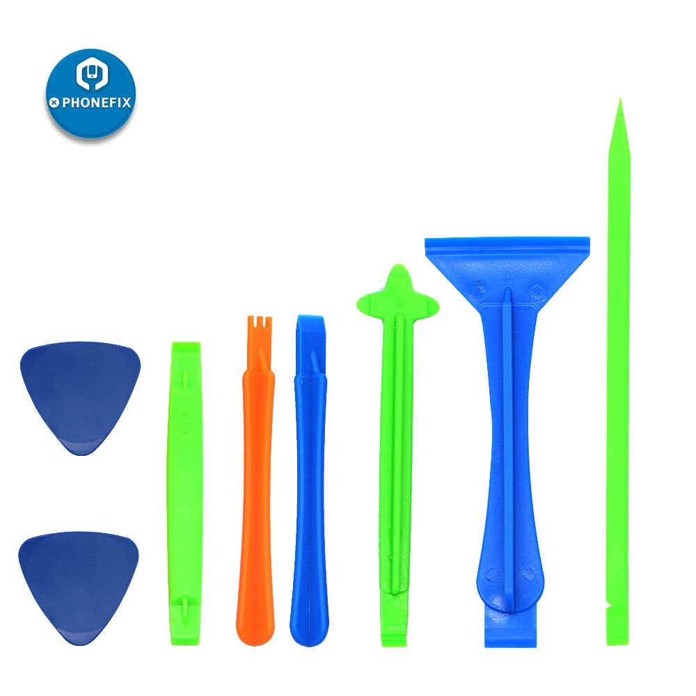 PHONEFIX 8 In 1 Plastic DIY Phone Pry Opening Tool Set Screen Disassembly Tool Kit Spudger Crowbar Pry Opening Tools