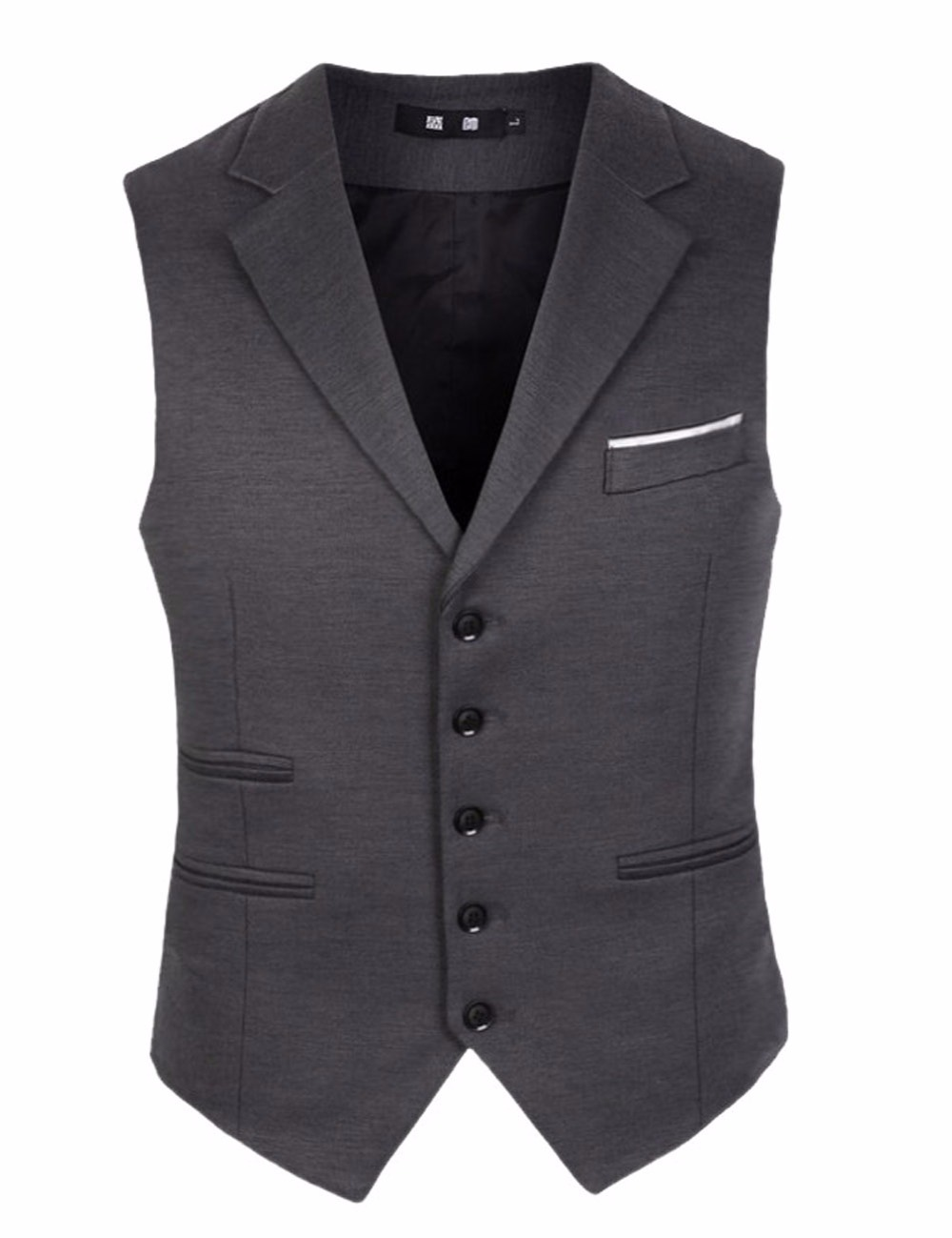 Dark Gray Slim Fit Groom Vests Wedding Prom Dinner Party font b Suit b font Waistcoat