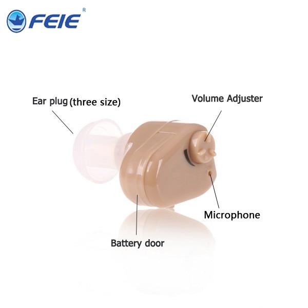 Micro aparelho auditivo do Ouvido mini aparelhos auditivos ITC forthe  deviceS-900 idosos Para Direita EarLeft amplificador auditivo do Ouvido  aparelho ... 8a03defd27