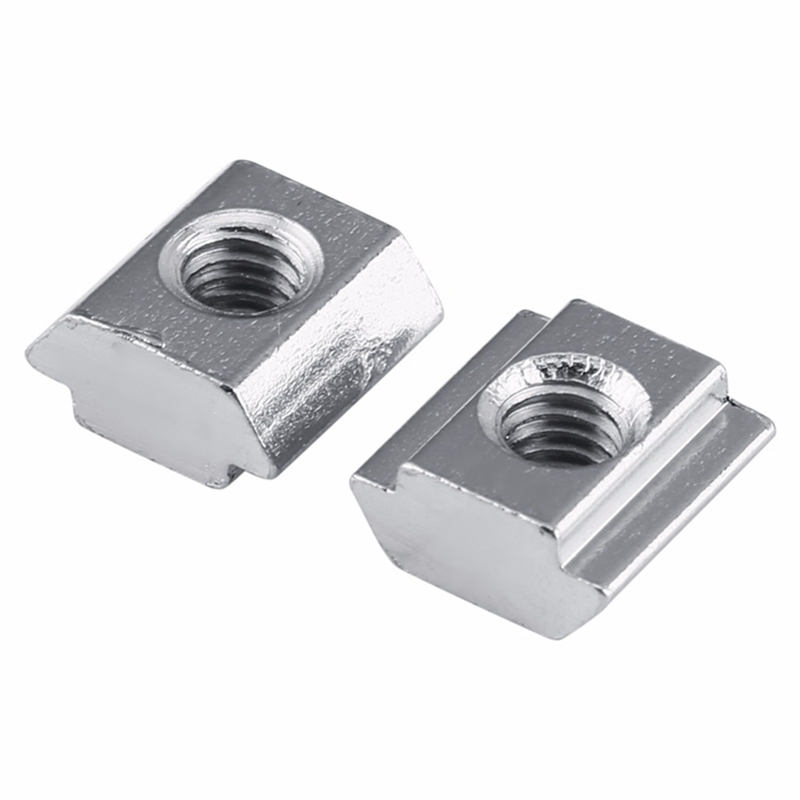 50 pcs/pack T Sliding Nut Block Square nuts M5 for 2020 Aluminum Profile Slot 6 Aluminum connector Accessor