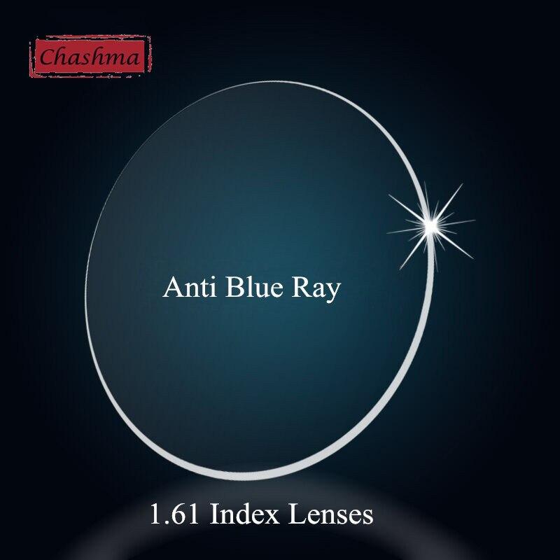 Chashma 1.61 Index Clear Color Radiation Eye Lens Prescription Anti Blue Ray Lenses