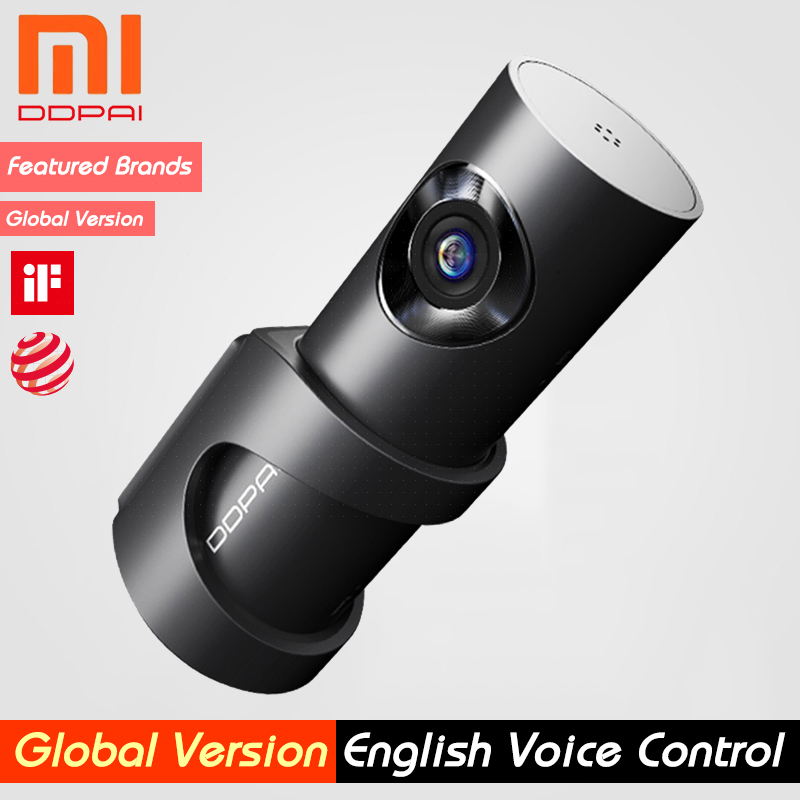 Xiaomi Mijia DDPai Mini3 DDPai Dash Cam Camera English Voice Control 1600P HD Recording 24H Parking Monitor Global Version(China)