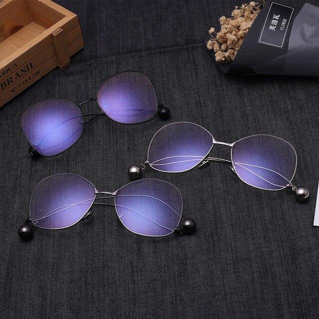 Полный кадр большие кадр очки близорукость мужчины и женщины металл очки По Рецепту очки могут быть установлены солнцезащитные очки