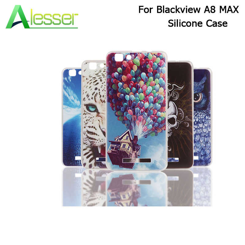 Alesser For Blackview A8 MAX Silicone Case Protective Cover With Colorful Drawings Soft Case for Blackview A8 MAX Mobile Phone