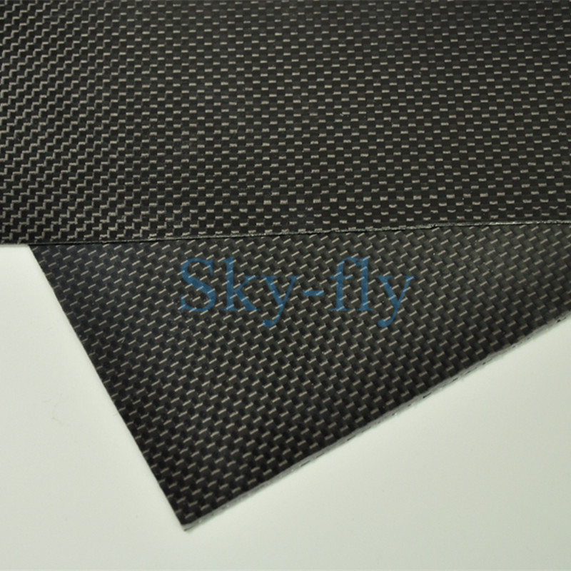 3K Carbon Fiber Plate Panel Sheet Plaine Weave Glossy Surface 1mm Thickness Multi size