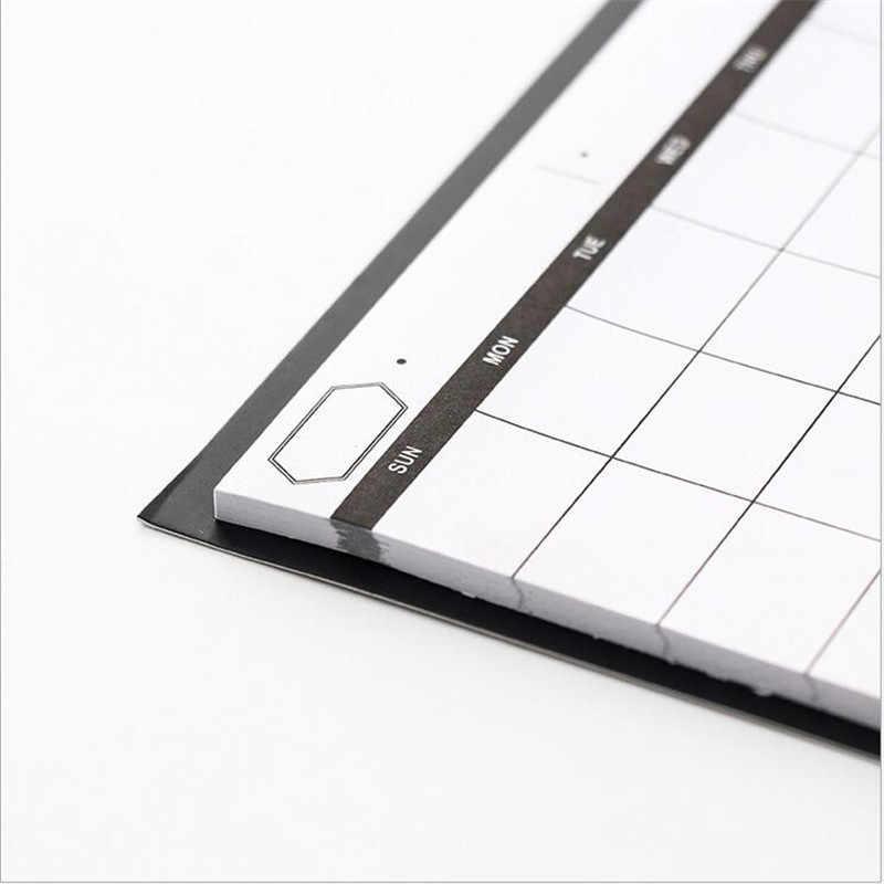 1 Pcs = 30 Sederhana Lembar Weekly Planner Buku Desktop Jadwal Bulan Rencana Merobek Notebook Efisiensi Kerja Ringkasan Rencana