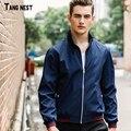 Tangnest jaqueta fina 2017 homens novos da chegada de grandes dimensões dos homens jaquetas casuais moda masculina outono casaco corta-vento m-4xl mwj2078