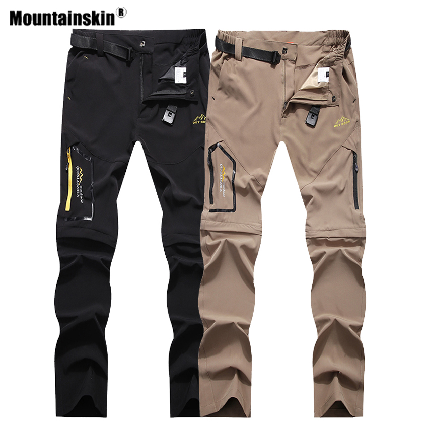 Mountainskin Men's Summer Quick Dry Hiking Removable Pants Outdoor Sports Camping Fishing Climbing Trekking Male Trousers VA505