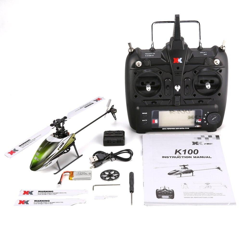 XK K100 RC Helilcopter jouets 6G 6CH 6 canaux système Brushless moteur RC Dron avion résistant aux chocs jouets pour garçons enfants cadeau