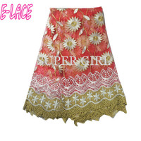 Free Shipping 2017 African sequins Tulle lace fabric guipure sequence net lace fabric for wedding and party 5Y/Lot 1613b0210d40