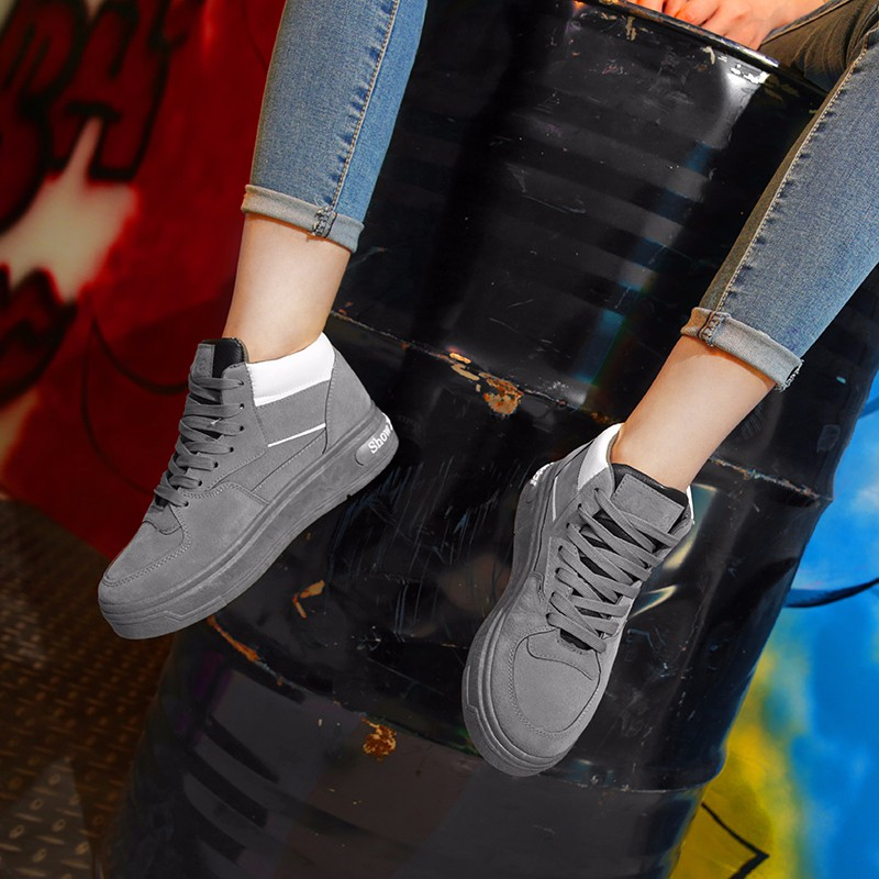 Casual Women Shoes Lace Up Breathable Platform High Top Casual Shoes KUYUPP 2016 Spring Autumn Fashion Lace Up Skate Shoes YD158 (36)