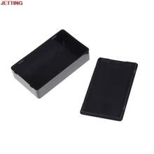 Czarne plastikowe pudełko projektowe obudowa obudowa oprzyrządowania elektronicznego 85*50*21mm tanie tanio NCVHRT Elektryczne Plastic Project Box