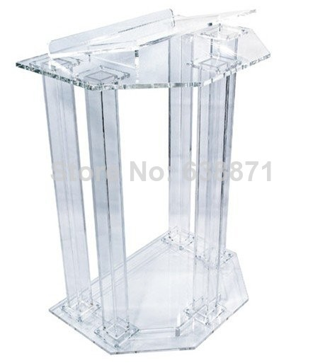 Free Shiping clear Acrylic Plexiglas podium pulpit acrylic lectern  acrylic podium|acrylic grinder|acrylic dome|acrylic cap - title=