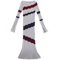2018 New Slim Basic Knit Sweater Dresses Long Sleeve Aristocrat Temperament Knit Dress Female Fishtail Autumn and Winter Dresses