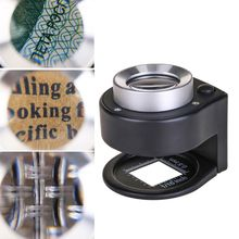 Magnifying Glass Loupe Folding Optical Full-Metal Linen-Tester NEW 6 30X LED Thread-Counter