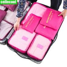 6 PCS Travel Storage Bag bag Clothes Tidy Organizer  Suitcase Pouch Case Shoes Packing Cube