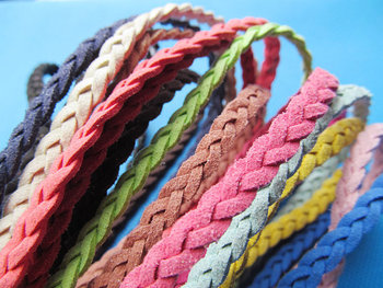 100Yds 6mm Multicolor Korea Faux Suede Fabric Leather Flat Cord String Rope,Jewelry Beading String,For Bracelet & Necklace,DIY
