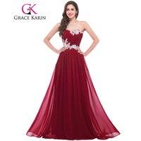 Grazia Karin Abiti Da Damigella D'onore 2017 Che Borda Paillettes Lunghezza Del Pavimento Dell'innamorato Verde Rosso Rosa Blu Robe De Soiree Prom Dress
