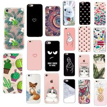 Verano Retro de caso para iPhone X XS X 6 6s 7 7plus 8 8plus XR XS. 11 fundas Pro Max funda trasera de silicona para Iphone 6 S(China)