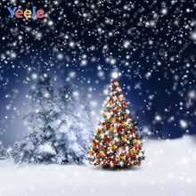Yeele Christmas Photocall Decor Pine Fallen Snow Photography Backdrops Personalized Photographic Backgrounds For Photo Studio