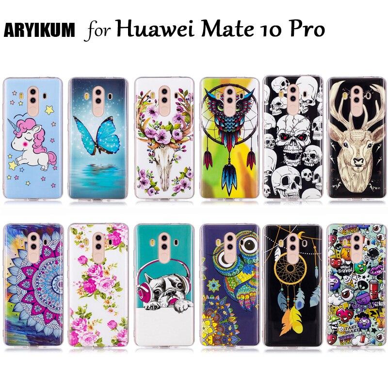 Для Huawei Коврики 10 Pro чехол противоударный Световой силиконовая милый мультфильм аниме задняя крышка для Коврики 10 Pro/Коврики 10 Pro Телефонные ...