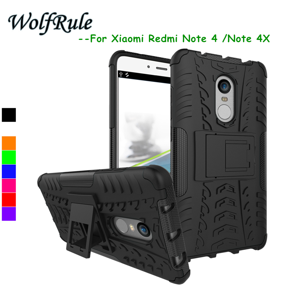 Case For Xiaomi Redmi Note 4 Case Hard Plastic Armor ShockProof Holder Stand Case For Xiaomi