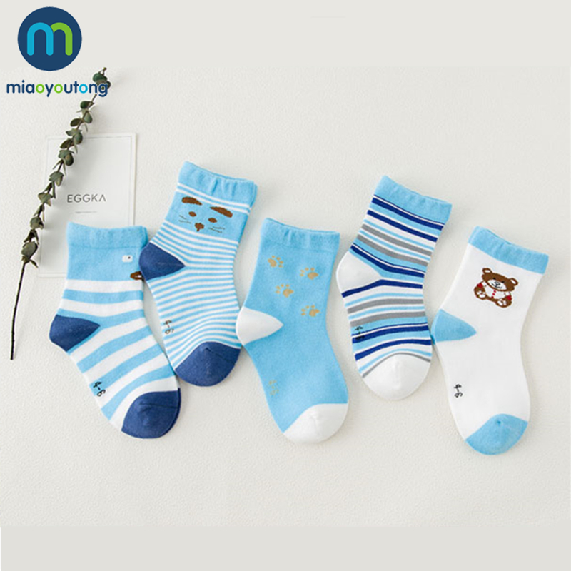 Unisex Lovely Multiple Colors Bear Skarpetki Newborn Sock Kids Cute Boy Cotton Soft Baby Socks Girl Miaoyoutong