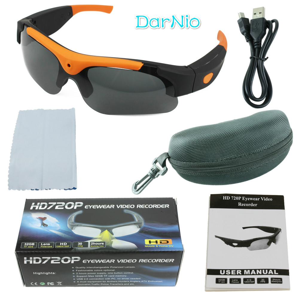 Best Fasion Sunglasses Camera HD 1080P Polarized Lens for Outdoor Action Sport Video DV DVR Mini Camera Glasses Camcorders image