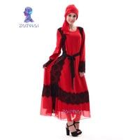 Abaya Latest Design Popular Colorful Muslim Dress MD A002 Noble Satin Islamic Clothing Plus Size Muslim