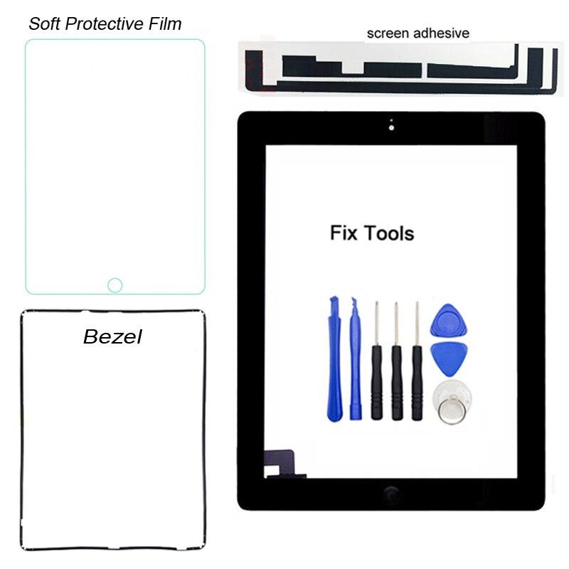 1 шт. (оригинал) имеет рамку для Apple iPad 2 A1395 A1396 A1397, дигитайзер, сенсорный экран, внешняя панель, стеклянный объектив (с кнопкой)