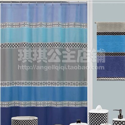 Classic European Thick Waterproof Polyester Shower Curtain Mildew ...