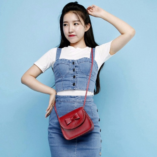 2018 NEW Luxury Handbags Women Bags Designer Bow Knot Decoration Mini Soft Single Strap Shoulder Bag Small Flap Mobile Phone Bag 4