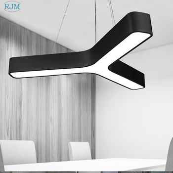 Modern Office LED Simple Pendant Lamps Creative Type Y Personality Industrial Hang Light for Bar Coffee Restaurant Shop Lighting