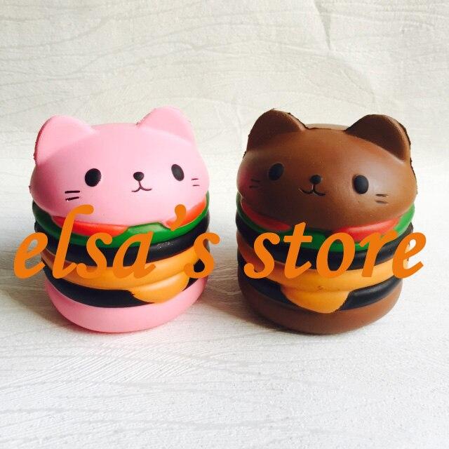 Squishy groothandel speelgoed 10 stks zeldzame kawaii squishy jumpo kat  hamburger trage stijgende speelgoed kids gift geurende squishy Gratis  Verzending in ... 4ba6c70440c7