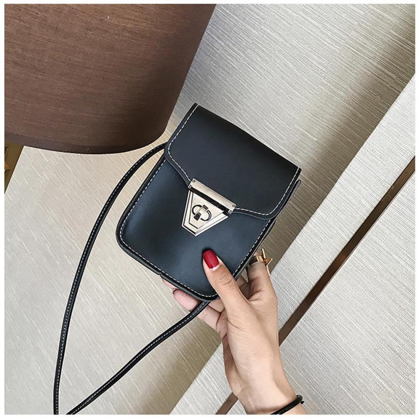 Модные женские Искусственная кожа Ретро Простой сумка через плечо сумка женская сплошной цвет мозаики застежкой небольшой площади сумка # F