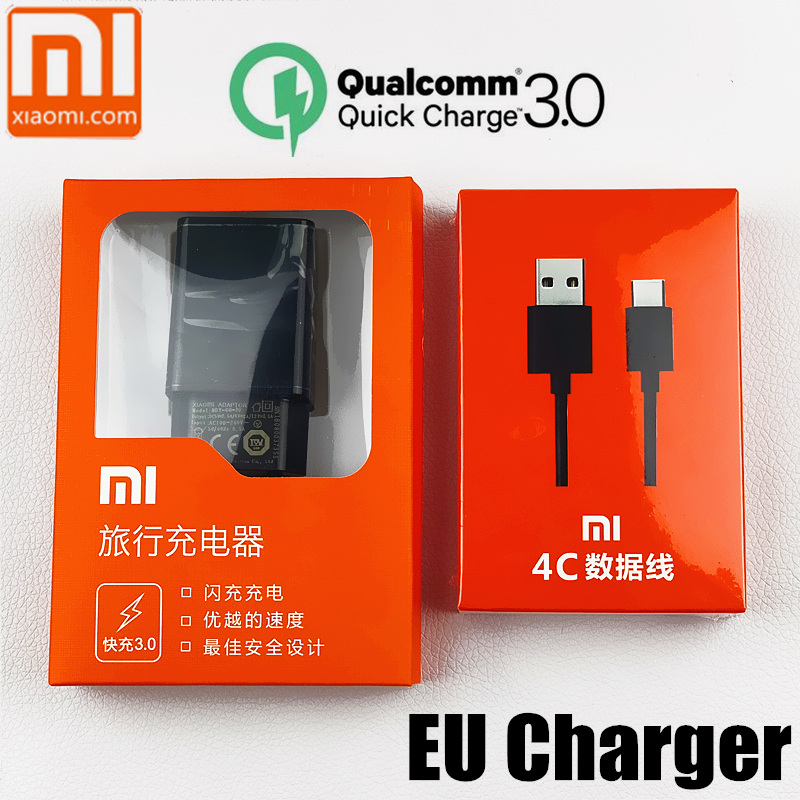 Original DA UE xiaomi mi carregador QC 3.0 carga rápida carregador rápido Para a1 a2 8 se 6 5S 5 redmi pro mi 5S 8 6 5 mi mi mi mi x 2 2 s max 2 3