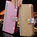 Full Bling Diamond Case For iPhone 6 6S For iPhone 6 Plus 6S Plus Glitter Rhinestone Wallet PU Leather Cover Mobile Phone Bags