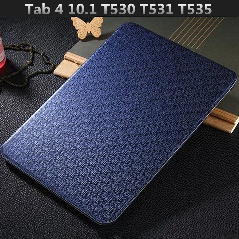 T530 Flip PU Leather Case Luxury Fashion Smart Book Cover for Samsung Galaxy Tab 4 10.1 T530 T531 T535 Tablet Stand Shell Cover business folding smart pu leather book cover case for samsung galaxy tab 4 10 1 t530 t531 t535 tablet screen protector stylus