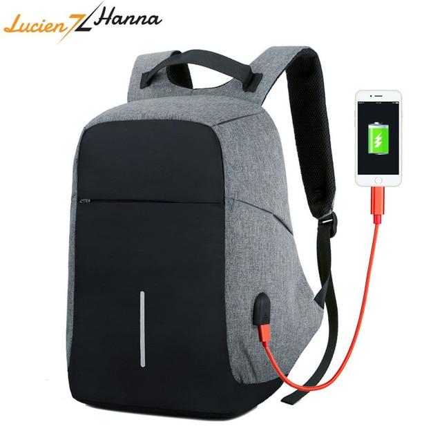 Multifunction Anti-theft USB Charging Men Laptop Backpack 15inch Waterproof Leisure Travel School Bag Business Backpacks Mochila